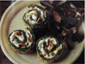 Spinach mushroom roulade