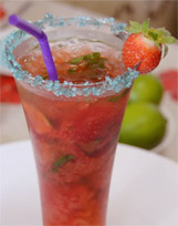 Raspberry Mojito Cocktail