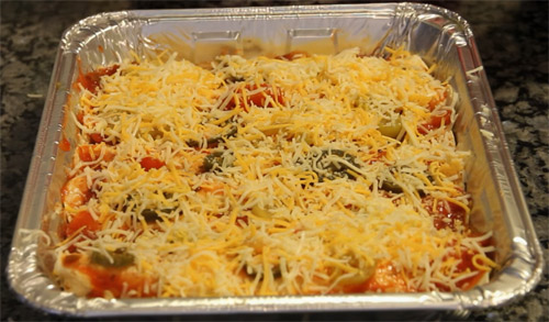 traditional mexican enchilada casserole with beef2