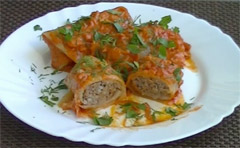 Cabbage Rolls with Ground Beef and Cheese