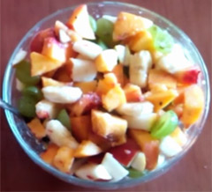 Fresh Peaches Fruit Salad