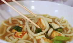 Traditional Chinese Tofu Noodle Soup