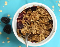 Blackberry Crumble Healthy Breakfast Recipe